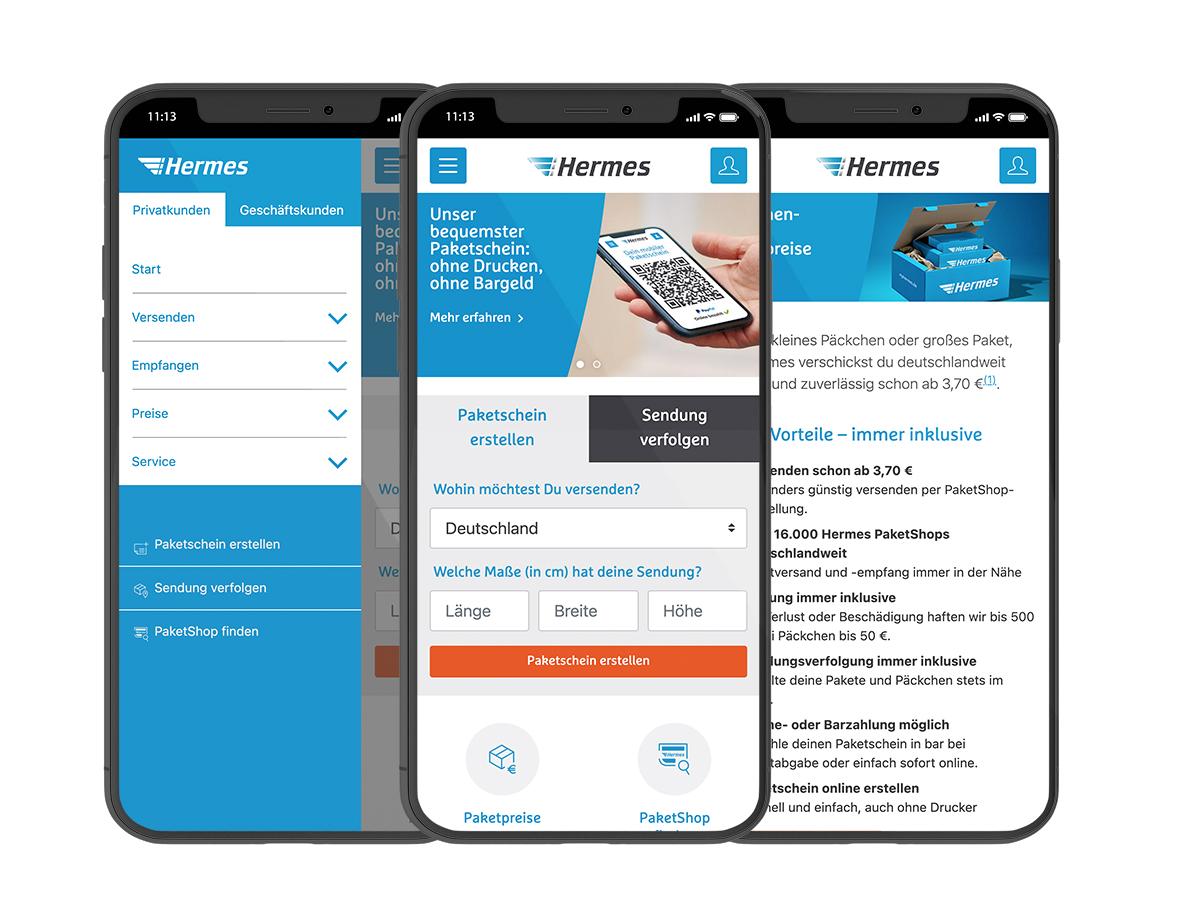 myHermes Facelift mobil